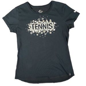 COPY - Nike Tennis Black Dri-Fit T Shirt Size Med…